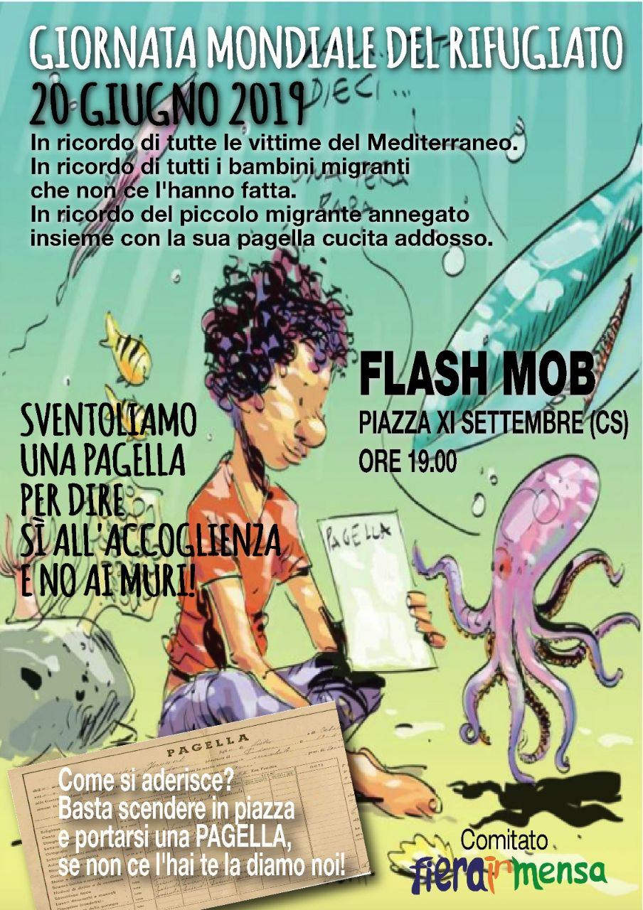 FLASH MOB – GIORNATA MONDIALE DEL RIFUGIATO 2019